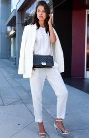 Stylish white pants ideas for ladies Blazer Elegant All White Outfit Idea Stayglam 30 Fashionable All White Outfits For Any Season Stayglam