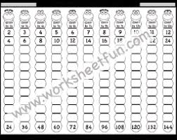 Count By 7s Chart Skip Counting By 2 3 4 5 6 And 7 Worksheet Free