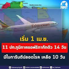 ลดวันกักตัว นักท่องเที่ยวเข้าไทยเหลือ 10 วัน เว้น 11 ประเทศ 14 วันเท่าเดิม