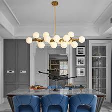 16 light chandelier ceiling light brushed gold bronze finish fixture modern nordic magic beans pendant lighting by efperfect
