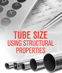 Steel Tubing Span Chart Calculate Required Tube Size Using Structural Properties