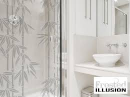 frosted illusion bamboo sandblasted glass effect vinyl sticker decal for shower door sliding doors