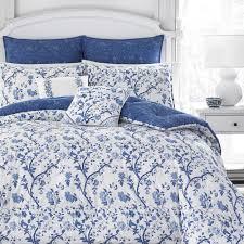 laura ashley elise navy 7 piece comforter set