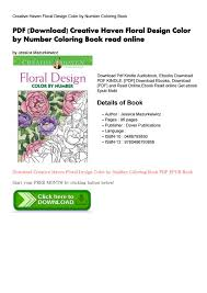 Creative Haven Floral Design Color By Number Coloring Book Pdf Download Creative Haven Floral By Cole Cole Issuu