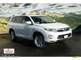 2012 Toyota Highlander Hybrid Limited 4WD in Blizzard White Pearl ...
