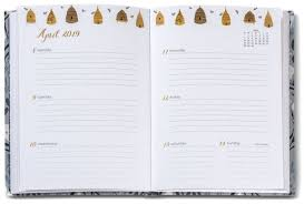 2019 High Note Garden Bee Floral Weekly Planner 18 Month Engagement