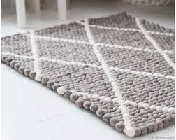 grey white rugs diamond pattern