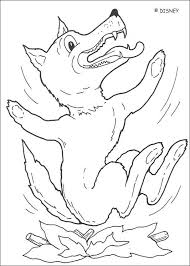 It develops fine motor skills, thinking, and fantasy. Big Bad Wolf Coloring Page Coloring Home