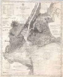 New York City Harbor Dimensions File 1910 U S Coast Survey
