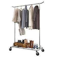 room clothes rack. Contemporary Room LANGRIA Heavy Duty Rolling Commercial Single Rail Clothing Garment Rack  With Wheels Height Adjustable Collapsible Clothes In Room R
