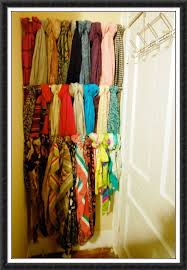 Scarf addict right here! Tension rods to store scarves in a small nook of a  room. or ribbon in my craft closet.