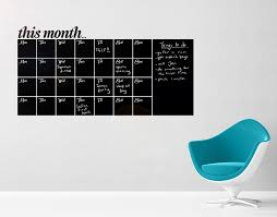this month black board days of the week
