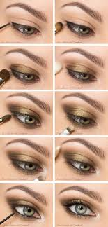 smoky eyes with bronze shadow via