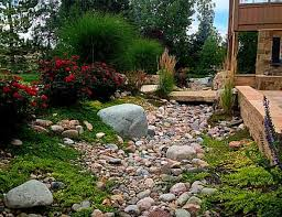Small Picture Dry Creek Bed and Stone Bridge Rustic Garden Denver by