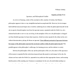 republic of plato essay ignorance and philosophical conflict  document image preview