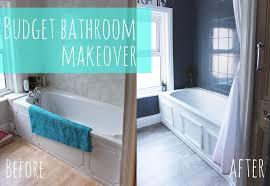 Budget Bathroom Makeover YouTube - Bathroom makeover
