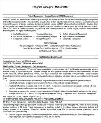 Program Manager Resume Impressive Sample Pmp Resume Program Manager Resume Template Project Manager