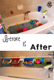 quick and easy bath toy organizer