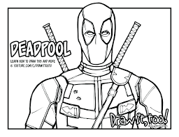 Deadpool Coloring Pages Lovely Images Of Picture Cremzempme