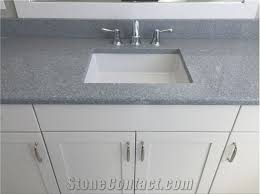 sparkle gray quartz stone surfaces bathroom vanity tops countertops non porous durable from guangdong