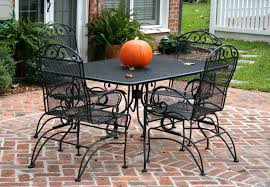 frightening cast iron patio set table chairs garden furniture outdoor and wrought iron patio dining table