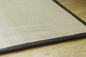 cotton brown binding jute rug