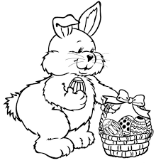 Large Easter Bunny Coloring Page 99 Colorsinfo