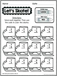 Free Equation Worksheets Winter Activities For Kindergarten Math ...
