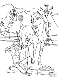 Small Picture Spirit Stallion of the Cimarron coloring pages Free Coloring Pages