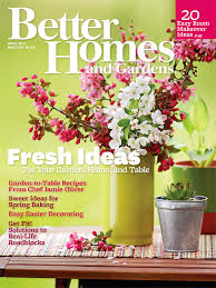 better homes and gardens april 2016 cover