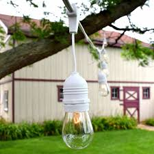 patio string lights commercial grade 54 supsended white