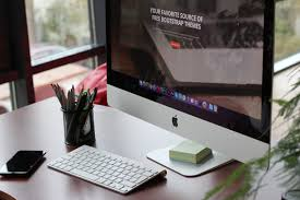 imac furniture. Desk Computer Screen Apple Keyboard Technology Workspace Office Gadget Organized Furniture Work Space Brand Imac Design A