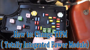how to change tipm totally integrated power module part 1