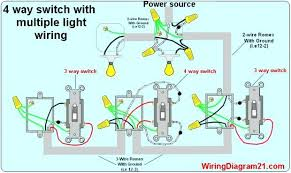 ideas wiring a 3 way switch with multiple lights or 4 way light