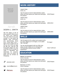 Microsoft Resume Template Resume Template On Microsoft Word 100 Resumes And Cover Letters 2