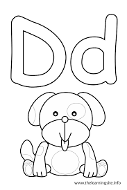 Small Picture letter d coloring page dog Consonant Sound Coloring Pages