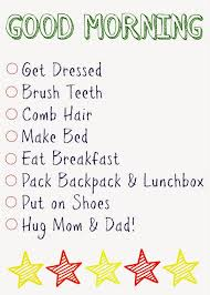 Kids Daily Checklists The Chirping Moms
