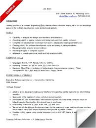 Objective In Resume For Software Engineer Fresher resume for software developer foodcityme 64