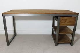 industrial style office furniture. 33 Unusual Design Industrial Style Computer Desk Desks Bespoke Vintage Office UK Russell Oak Steel Rustic And Furniture