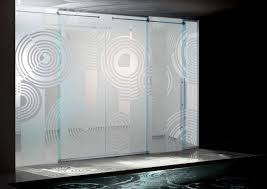 dining room modern interior glass door design with circle accents intended for glass door designs