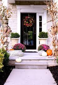 Rustic Pumpkins And Corn Knobs Are Quite Popular Fall Porch Decor Digsdigs 47 Cool Small Front Porch Design Ideas Digsdigs
