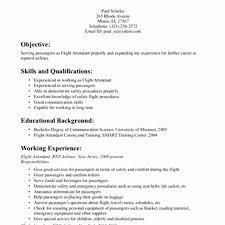 Resume Examples For Flight Attendant