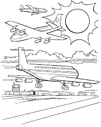 Aeroplane Coloring Pages Planes Coloring Page Plane Sheet Pages Book