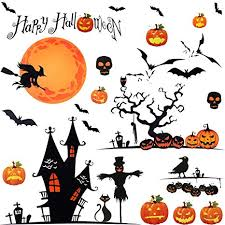 Outus Halloween Wall Stickers Self-Adhesive Stickers ... - Amazon.com