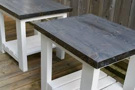 b w pine side tables