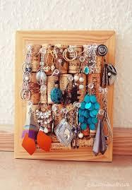 DIY Cork Jewelry Display: 1 of 10 Inspiring DIY Jewelry Displays at  thinkingcloset.com