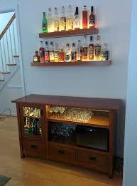 diy liquor cabinet home bar designs