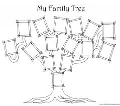 Coloring Page For Kids - A Simple Fun Family Tree Chart in Family ...