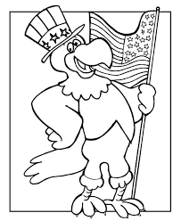 Small Picture The Eagle Holding US Flag Celebrating Veterans Day Coloring Page