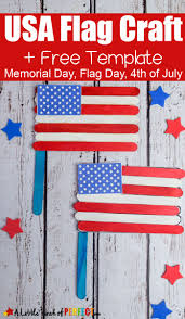 american template 4th of july american flag popsicle stick craft and template